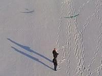 Fliegen im Schnee